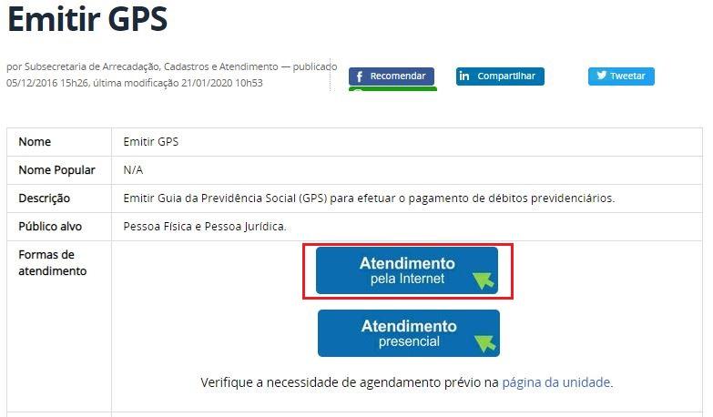 Como Preencher a GPS Online 2021